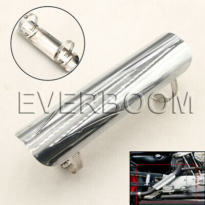 Universal 9 Silver Motorcycle Exhaust Muffler Pipe Protect Heat Shield Cover Hot • 12.53£