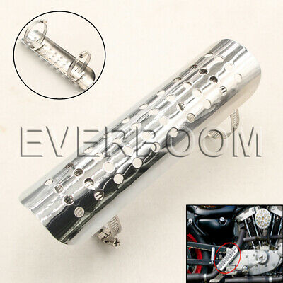 Silver Brand New Universal Fit Exhaust Muffler Pipe Heat Shield Cover Heel Guard • 12.36£