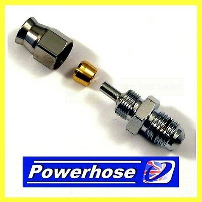 Compression Fitting 3/8 Unf Male Hose End Convex Seat. Suit AN-3 Hose 3/10375MHC • 10.19£