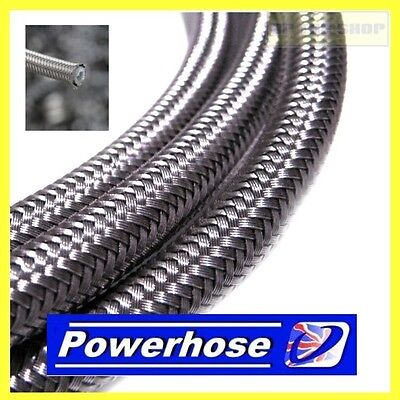 From 1 Meter AN-3 Stainless Brake Hose Line 6.28mm Diameter Venhill Powerhose • 9.99£