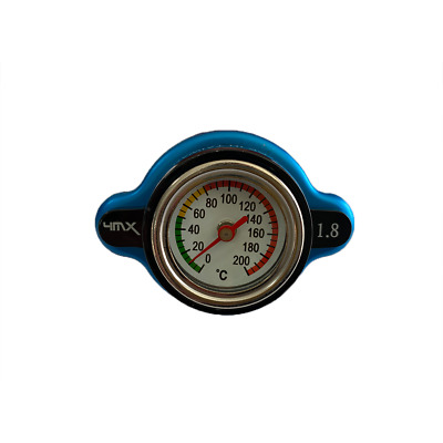 4MX 1.8 Bar Blue Rad Cap Thermo Safety Gauge Fits KTM 400 EGS-E 96-98 • 29.95£