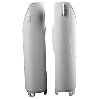 Pair Of Polisport White Fork Protectors/Guards Fit Rieju Marathon 125 Pro 09-15 • 25.95£