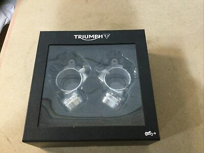 Triumph Thruxton 1200 R Lower Handlebar Car Clamp Kit NEW 2016-20 • 59.99£