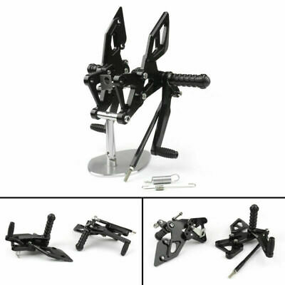 CNC Adjustable Rearsets Footrests Pedal For 2014-2020 Yamaha YZF R25 R3 Black GB • 88.79£