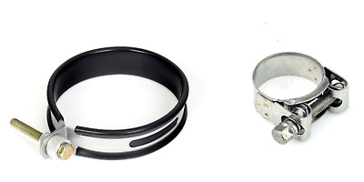 Stainless 28mm 365mm Exhaust End Can Hanger Strap & FREE Exhaust Clamp 52-55mm • 9.95£