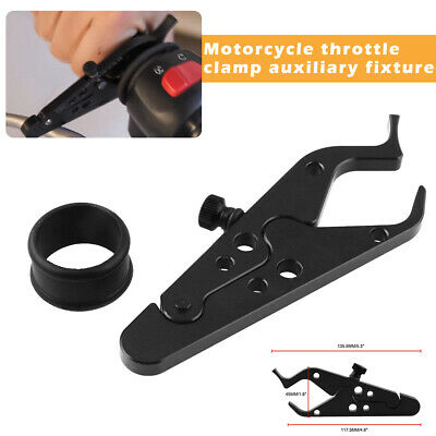 Universal Cruise Control Motorcycle Throttle Lock Assist Clamp W/ Silicone Ring • 5.13£