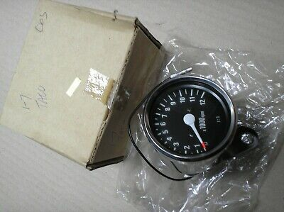 Honda ?? Custom Mini Chrome Tacho Tachometer Rev Counter 1-7 Ratio 12000 Rpm • 20.99£
