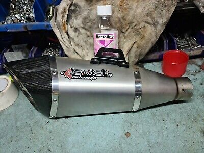Lextek Exhaust End Can 51mm Used Carbon End • 100£