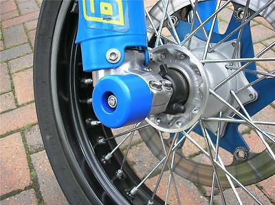 Husaberg Drz Ktm Crash Mushroom Front & Rear Axle Slider Bobbins Bungs Blue  S4k • 49.28£