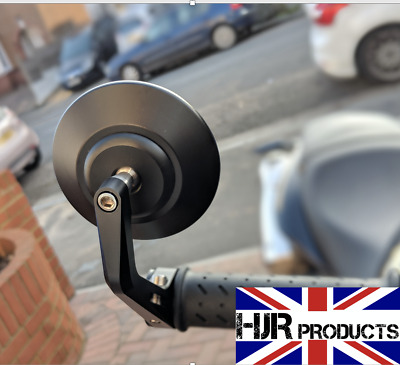 CNC Round Bar End Mirrors Yamaha Xsr 900 700 Genuine Quality Pair.  HJR Products • 49.99£
