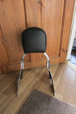 Harley Davidson Quick Release Sissy Bar And Padded Back Rest • 70£
