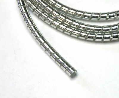 Chrome Spiral Cable Wrap Wire Tidy 6mm Motorcycle/Trike 1.5m Long • 10.30£