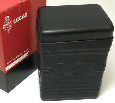 Genuine Lucas Battery Box Large Type With Black Lid • 29.95£