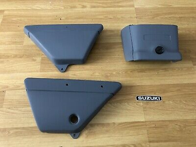 Suzuki Gp100/125 Side Covers And Tail Box Set Ready To Paint Free Postage • 99.99£