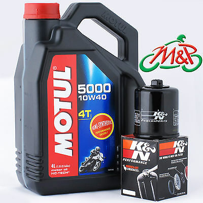 RSV 1000 R Mille 2001 K&N Filter And Motul 5000 Oil Kit • 30.45£