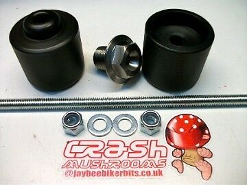Suzuki Gsf 1250 Bandit Gsx1250fa Crash Mushrooms Front Axle Sliders Bobbins  S6j • 34.40£