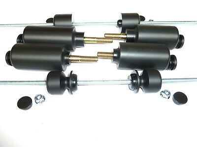 Triumph Speed Triple  1997-2004 Full Set Of 8 Crash Mushrooms Bungs Sliders  S7u • 117.17£