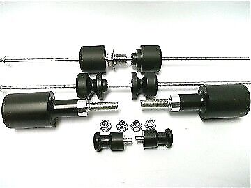HONDA CBR 1000RR 2004- 2007 CRASH MUSHROOMS SLIDERS BOBBINS BUNGS Set Of 8   S3S • 96.60£
