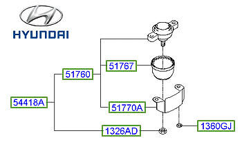 Genuine Hyundai Sonata Ball Joint Kit - 5176138A00 • 50.95£