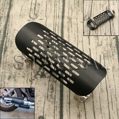 Black Motorcycle Exhaust Muffler Pipe Heat Shield Cover Guard For Harley Cruiser • 10.12£