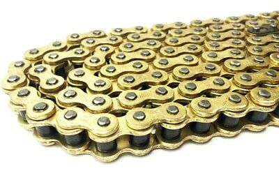 Motorcycle Heavy Duty GOLD Motorcycle Chain 420HD 130 Links • 11.65£