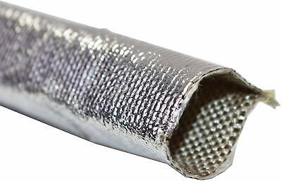 Heat Sheath Aluminized Sleeving Heat Shield Protection Barrier 1  X 36  (3ft) • 8.73£
