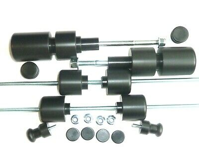 Aprilia Rsv Mille 1998 2003 Crash Mushrooms Set Of 8 Sliders Bobbins Bungs Black • 95.78£