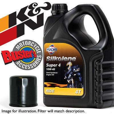 Silkolene Super4 Oil And K&N Oil Filter For Suzuki GSF 600 K4 'Bandit' Naked 200 • 31.99£