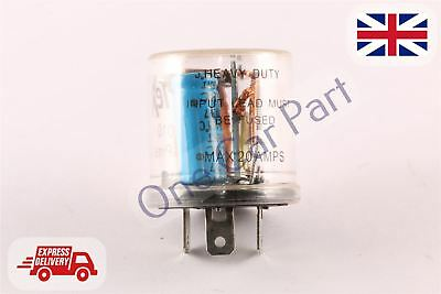 12v Electronic Indicator Flasher Relay Classic Car 3 Pin • 5.87£