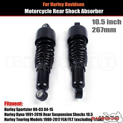 NEW 10.5  Black Adjustable Rear Shock Absorber Kit For Harley Sportster Touring • 72.08£