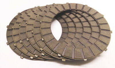 Clutch Friction Plate Set Of 6 BSA & Triumph 3 Spring Clutches 57-1362  42-3192 • 51.50£