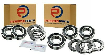Front And Rear Wheel Bearings Kits For Kawasaki GPZ900 R 1984-1996 • 25.99£
