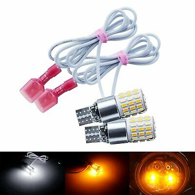 2x T10 W5W Dual Color LED Turn Signal Side Light Bulbs For Motorcycle Motorbike • 11.88£