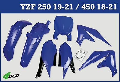 Yamaha YZF 250 2019 - 2021 Plastic Kit With Stadium Front Number Plate Blue • 104.99£