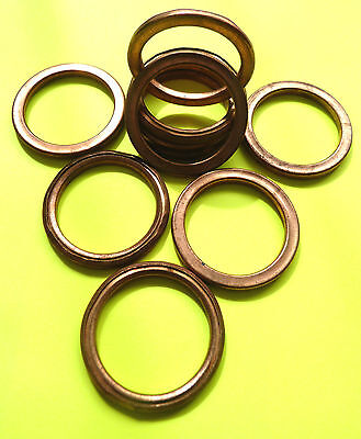 100% COPPER EXHAUST GASKETS SEAL HEADER GASKET RING 45mm OD, 35mm ID  F45 • 2.95£