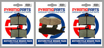 Front & Rear Brake Pads (3 Pairs) For Triumph 1200 Tiger Explorer 2012 • 29.95£