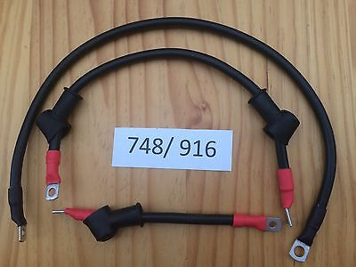 Ducati 748 916 996 Upgraded Starter Motor Cable Wiring Kit All Copper Heavy Duty • 41£