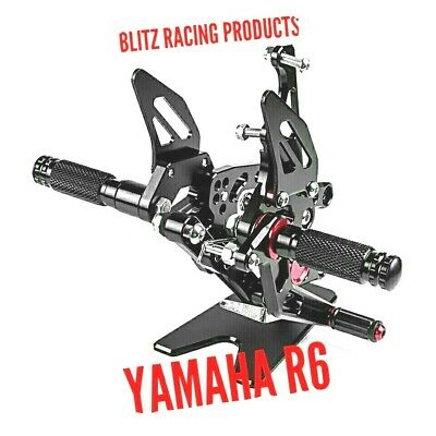 YAMAHA Motorcycle Adjustable Rearsets Foot Pegs For Yzf R6 2017/18/19 GB • 149£