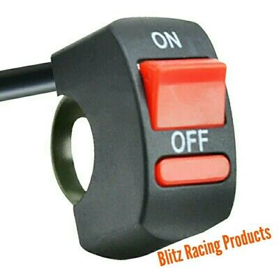 Motorcycle Handlebar On/Off Rain Light Switch For Road Race / Track Day Bikes • 5.89£