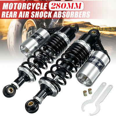 Pair 11'' 280mm Motorcycle Rear Air Gas Shock Absorbers Suspension Dirt Bike ATV • 53.45£