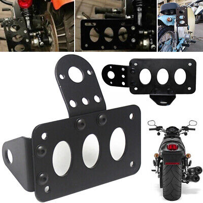 Iron Plate License Bracket Side Mount  Motorcycle Number Plate ACB# • 8.69£