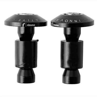 Motorcycle Bar Ends BLACK For 22mm 7/8  Handlebars HIGH QUALITY • 9.99£