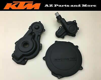 2008 KTM 505 XC-F Engine Outer Clutch Stator Cover Housing Water Pump Case Oil • 169.35£