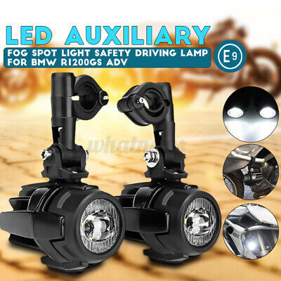 Spot Auxiliary Fog Light LED Motorbike Safety Motorcycle Driving For BMW R1200GS • 59.99£