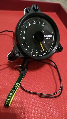 Scitsu Ducati Branded Tacho Rev Counter. Race Version, Internal Battery • 34.33£