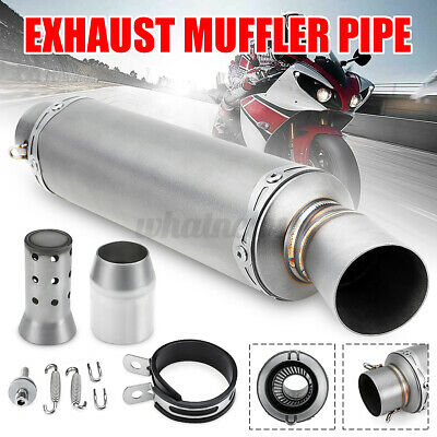 38-51mm Motorcycle Short Exhaust Muffler Pipe +  Slip On Removable Silencer   • 26.89£