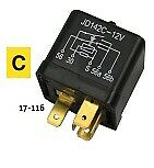 Midwest Motorcycle Headlight Relay Allows The Use Of A 1-wire Horn Button HFC6  • 10£