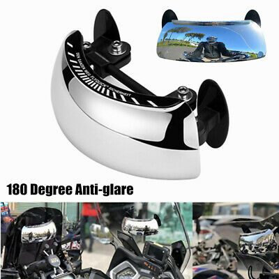 Universal Motorcycle Rear View Blind Spot Mirror 180° Degrees Wide Angle Usef #s • 10.97£