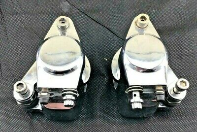 Harley Sportster Dyna Matching Pair Front Brake Callipers Chrome NEW 5147tDis  • 200£