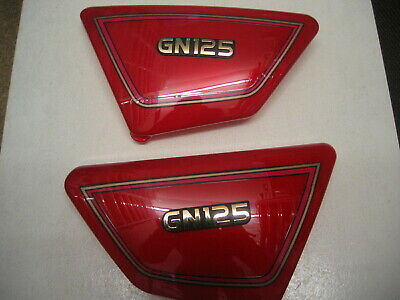 Suzuki GN 125 E 1994-2001 SIDE PANELS PANEL COVER COVERS NEW RED • 22.30£